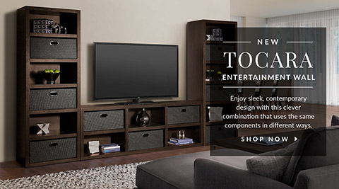 Toacara Entertainment Wall. Shop Now.