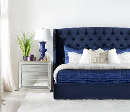 Save on Raven Upholstered Queen Bed. Click to shop.
