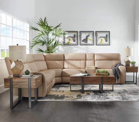 Save on Rhett Reclining Sectional. Click to shop.