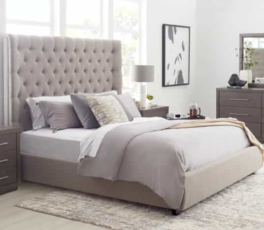 Save on Rylee Upholstered Queen Bed. Click to shop.