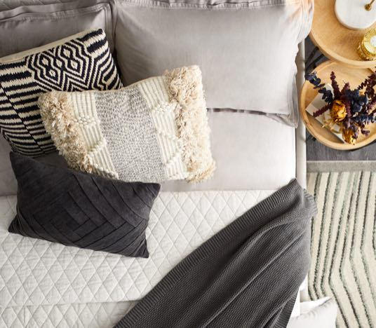 Pillows & Throws. Click to shop.