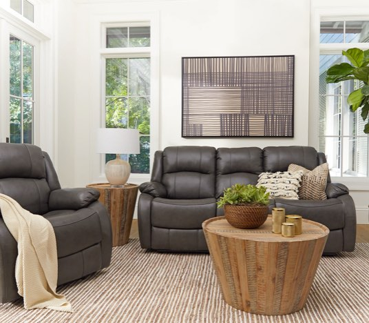 Save on Dalton Leather Reclining Sofa. Click to shop.