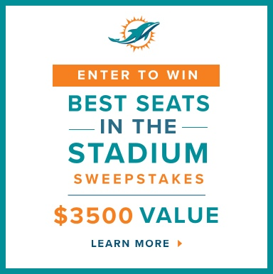 Enter to Win. Best Seats in the Stadium Sweepstakes. $3500 Value. Learn More.