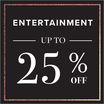 Entertainment up to 25% OFF. Shop Now.