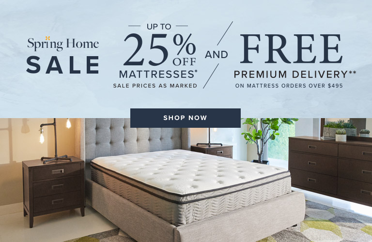 Up to 25% OFF Mattresses* Sale Prices as Marked and FREE Premium Delivery** on Mattresses Over $495 . Shop Now.