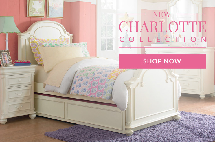 Kids and Teens Charlotte Collection. Shop Bedroom Sets.