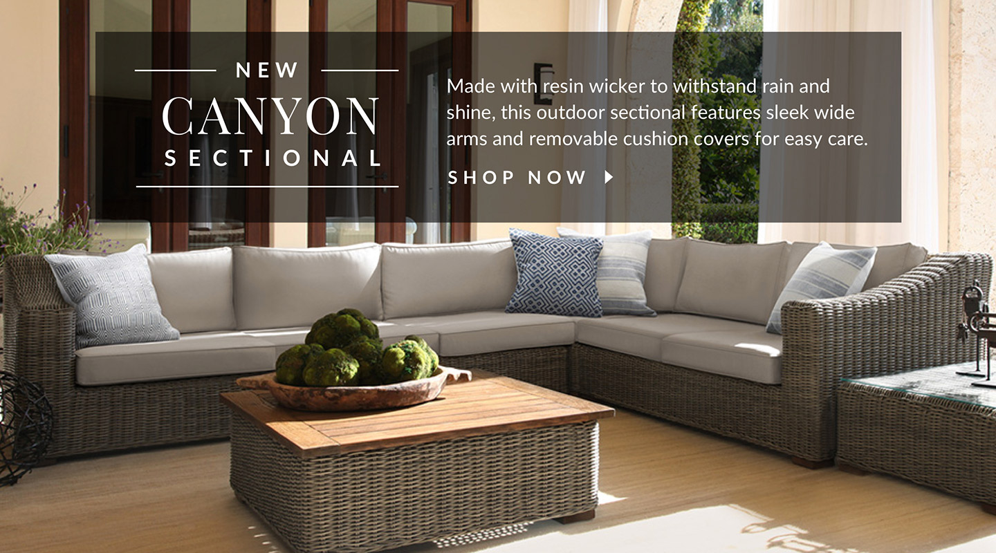 The Canyon Sectional. Shop Now.
